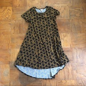 Lularoe Carly Dress Black & Gold